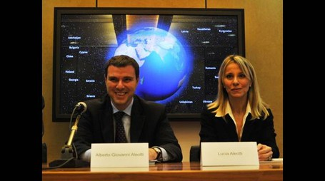 Lucia e Alberto Aleotti, presidente e vicepresidente di Menarini