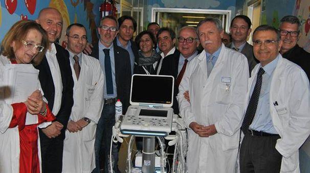 L'inaugurazione del nuovo ecografo di pediatria