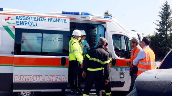Empoli, allarme alla Revet per dispersione materia tossica (Foto Nucci/Germogli)