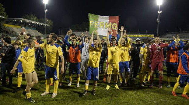 La festa promozione della Fermana (foto Zeppilli)