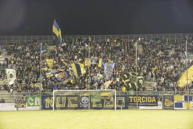 I tifosi in estasi sugli spalti (foto Zeppilli))