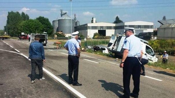 L'incidente mortale è avvenuto intorno alle 13 (foto Radogna)