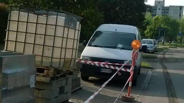 Il furgone multato