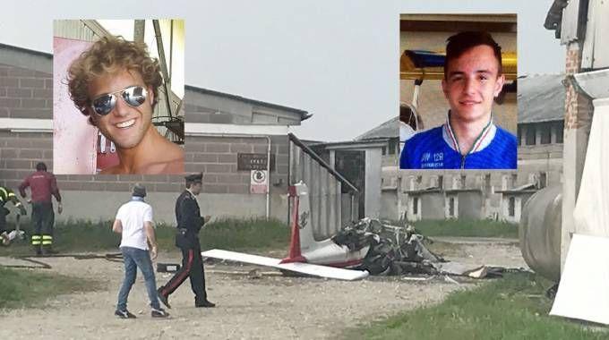 Ultraleggero precipitato, le due vittime: Rodolfo (a sinistra) e Nicola (a destra)