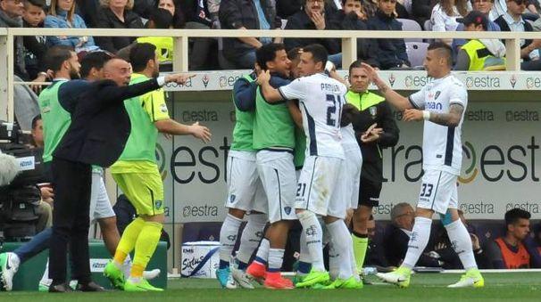 Il gol dell'Empoli al Franchi (Fotocronache Germogli)