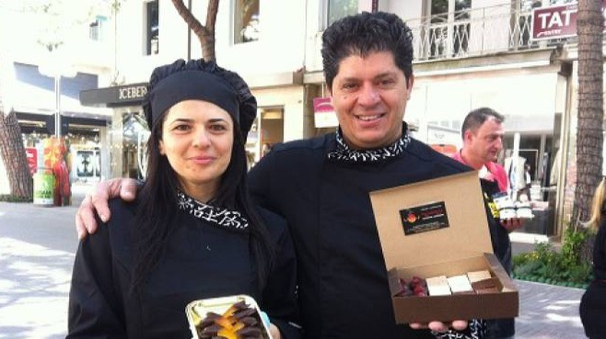 Riccione, la festa del cioccolato in viale Ceccarini (foto Concolino)