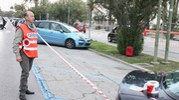 Allarme bomba sul lungomare Trieste a San Benedetto del Tronto (foto Sgattoni)