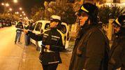 Polizia municipale e vigili del fuoco (foto Sgattoni)