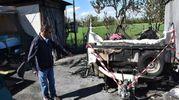 La tragedia nel campo nomadi di via Ancini a Roncocesi (Artioli)