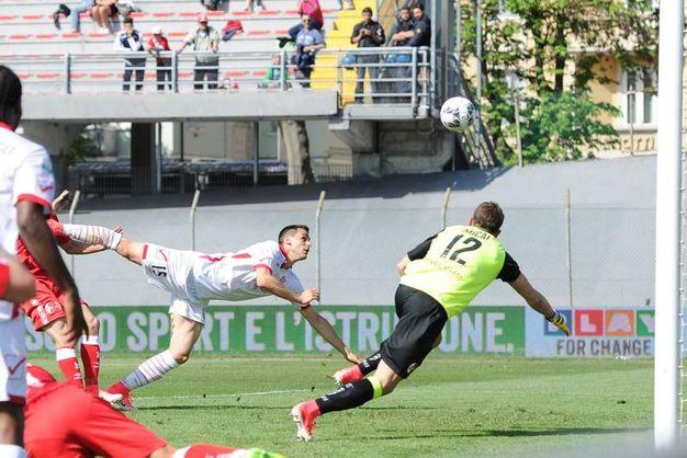 Gol di Lasagna, annullato al 45' (foto LaPresse)
