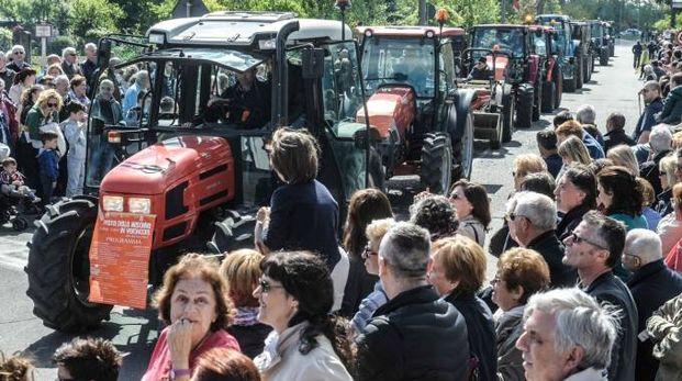 I mezzi agricoli hanno sfilato per le strade di Busto