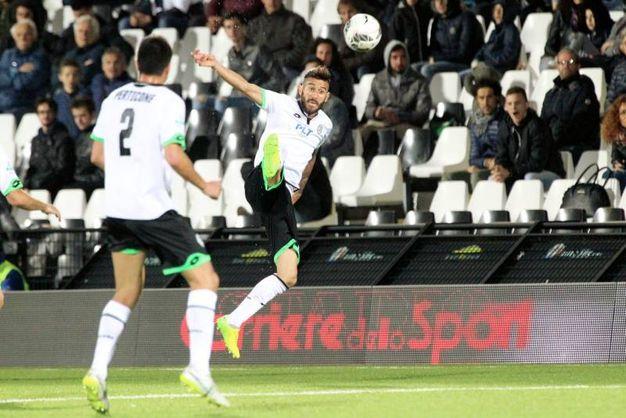 Cesena-Spezia 1-0, Crimi (foto Ravaglia)