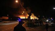 Sul posto sono intervenute diverse squadre dei vigili del fuoco da tutta la Romagna (foto Ravaglia)