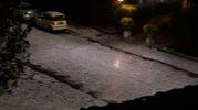 Castenaso, zona Stellina. La strada imbiancata dalla grandine (da Angelo Mengoli)
