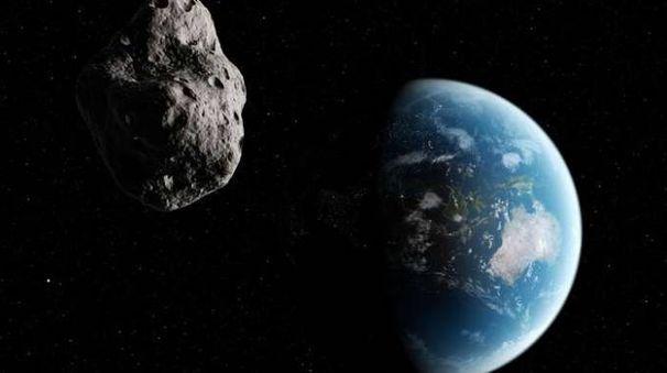 Asteroide in avvicinamento, ricostruzione artistica (Foto: Olycom)