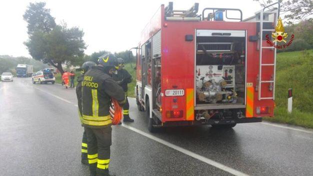 I soccorsi prestati dai vigili del fuoco