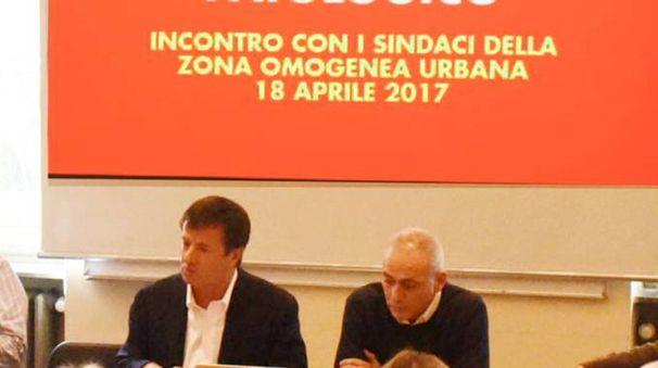 La riunione a Palazzo Frizzoni tra Giorgio Gori e i sindaci dell'hinterland