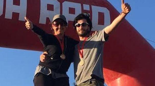Martina Meucci e Luca Finocchiaro sul traguardo del raid