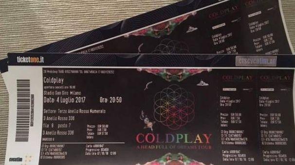 I biglietti del concerto
