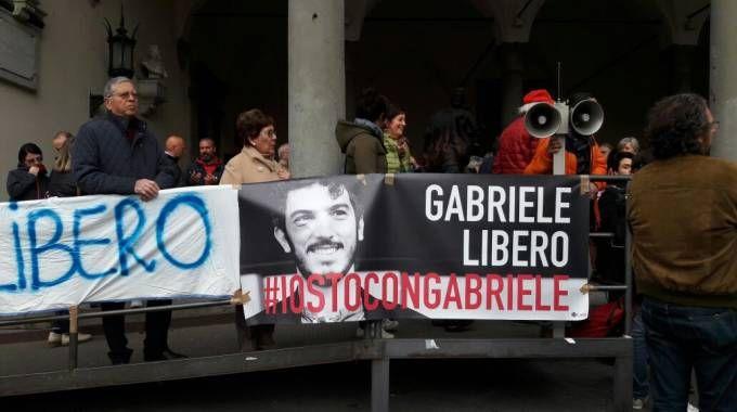 Manifestazione per la liberazione di Gabriele Del Grande