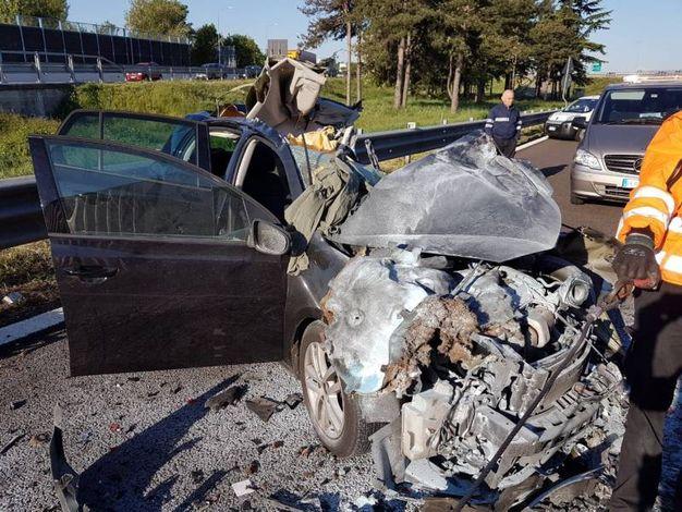 Ecco come si presentava l'auto dopo l'incidente