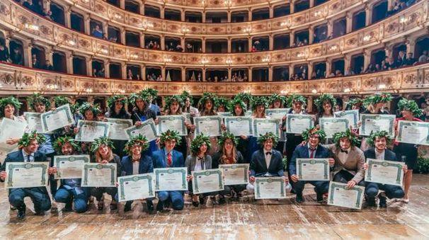 La cerimonia di laurea per 33 nuovi dottori in infermieristica (Foto Zeppilli)