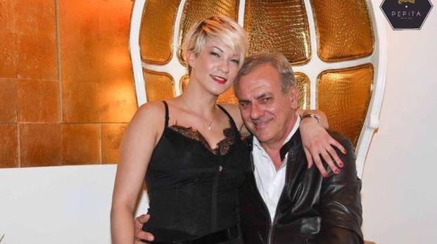 Ettore Cabrini e la compagna Lavinia Pop