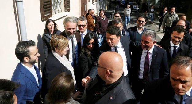 Renzi con Lia Montalti (Foto Ravaglia)
