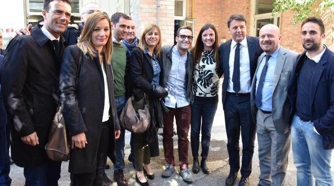 Matteo Renzi in visita all'istituto dei Salesiani (Foto Fantini)