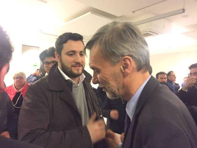 Il ministro Delrio con il consigliere Perugini
