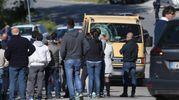 Tanta gente è accorsa nel luogo dell'incidente a Filottrano (foto Ansa)