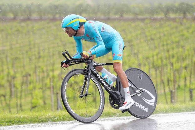 Durante la cronometro al Giro d'Italia del 2016 (foto LaPresse)