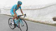 Con l'Astana al Giro d'Italia nel 2016 (foto LaPresse)