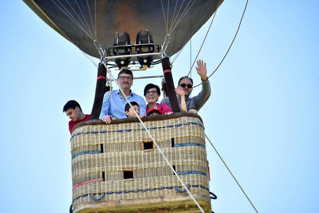 Si può provare l'emozione dei voli in mongolfiera (foto Fantini)