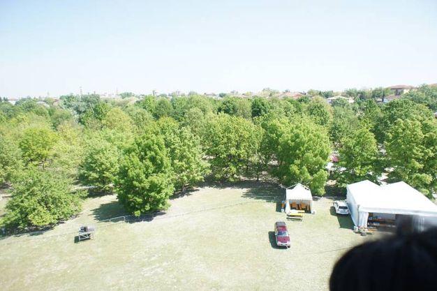Il parco visto dall'alto (foto Fantini)