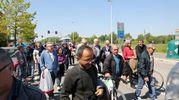 Il corteo degli azionisti della Cassa di Risparmio di Cesena per le strade della città (foto Ravaglia)
