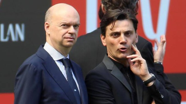 Marco Fassone e Vincenzo Montella
