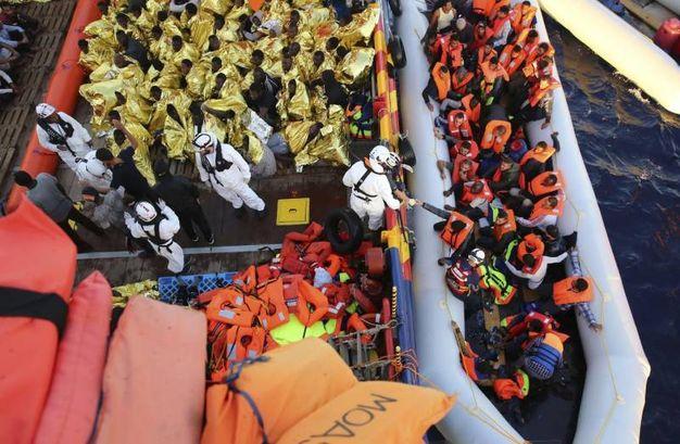Emergenza migranti nel Mediterraneo (Ansa)