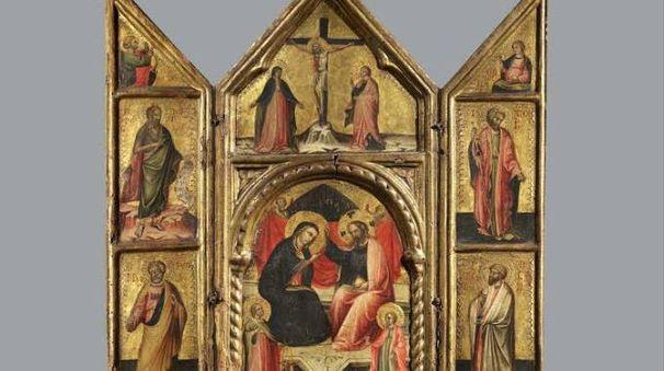 Il trittico recentemente restaurato