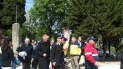 L'arrivo del cardinale Edoardo Menichelli (foto Santini)