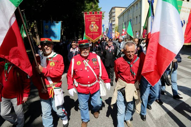 Cesena, corteo del 25 aprile (foto Ravaglia)