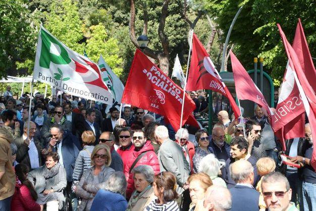 La cerimonia a Cesena per il 25 aprile (foto Ravaglia)
