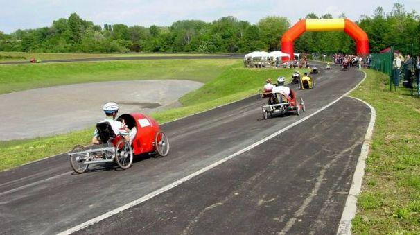 Una gara al velodromo del Parco Nord