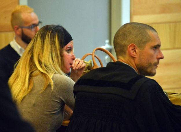 Rimini, Gessica Notaro durante l'udienza (foto Manuel Migliorini)