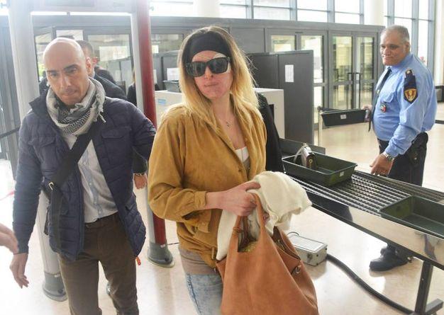 Rimini, Gessica Notaro mentre entra in tribunale (foto Manuel Migliorini)
