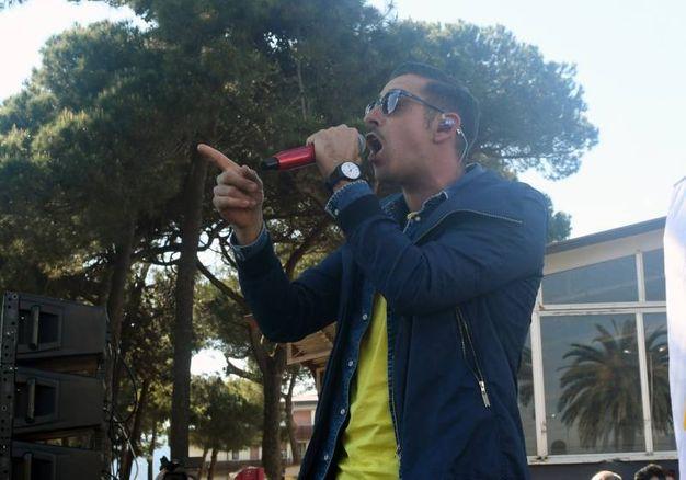 Francesco Gabbani a Carrara (foto Delia)