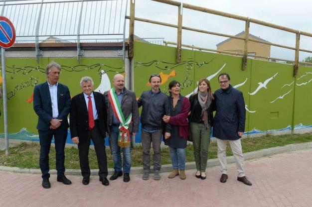 L'inaugurazione a San Martino in Villafranca (foto Frasca)