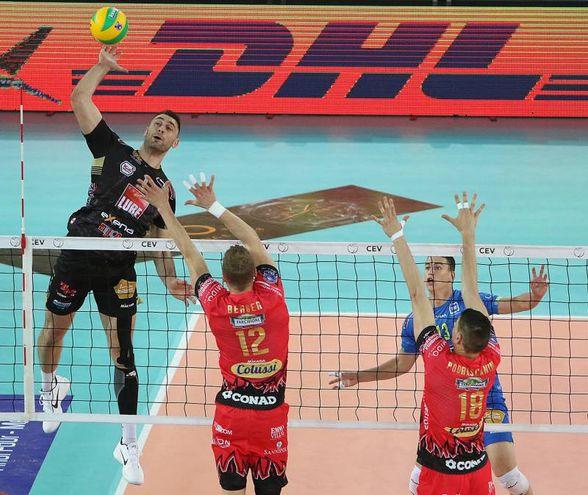 Perugia ha battuto la Lube Civitanova  solo al tie-break (foto Spalvieri/Lubevolley.it)