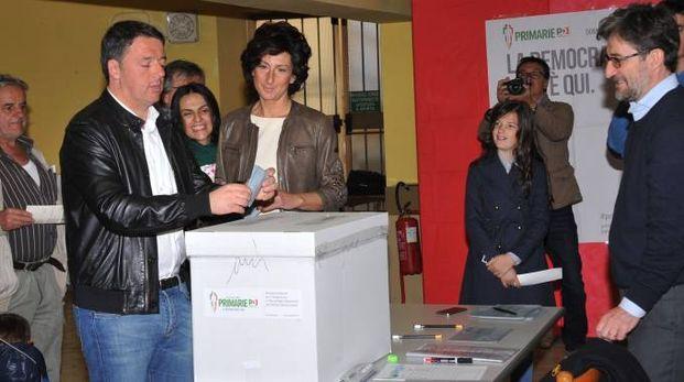 Renzi al voto (Roberto Germogli / Fotocronache Germogli)