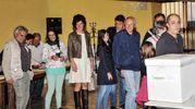 Renzi al voto con la famiglia a Pontassieve (Roberto Germogli / Fotocronache Germogli)